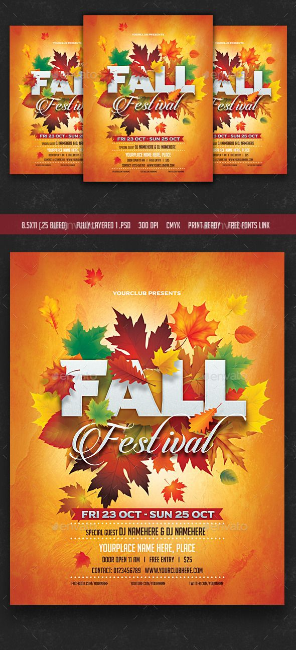 Fall Festival Flyer Flyer Template Template And Party Flyer
