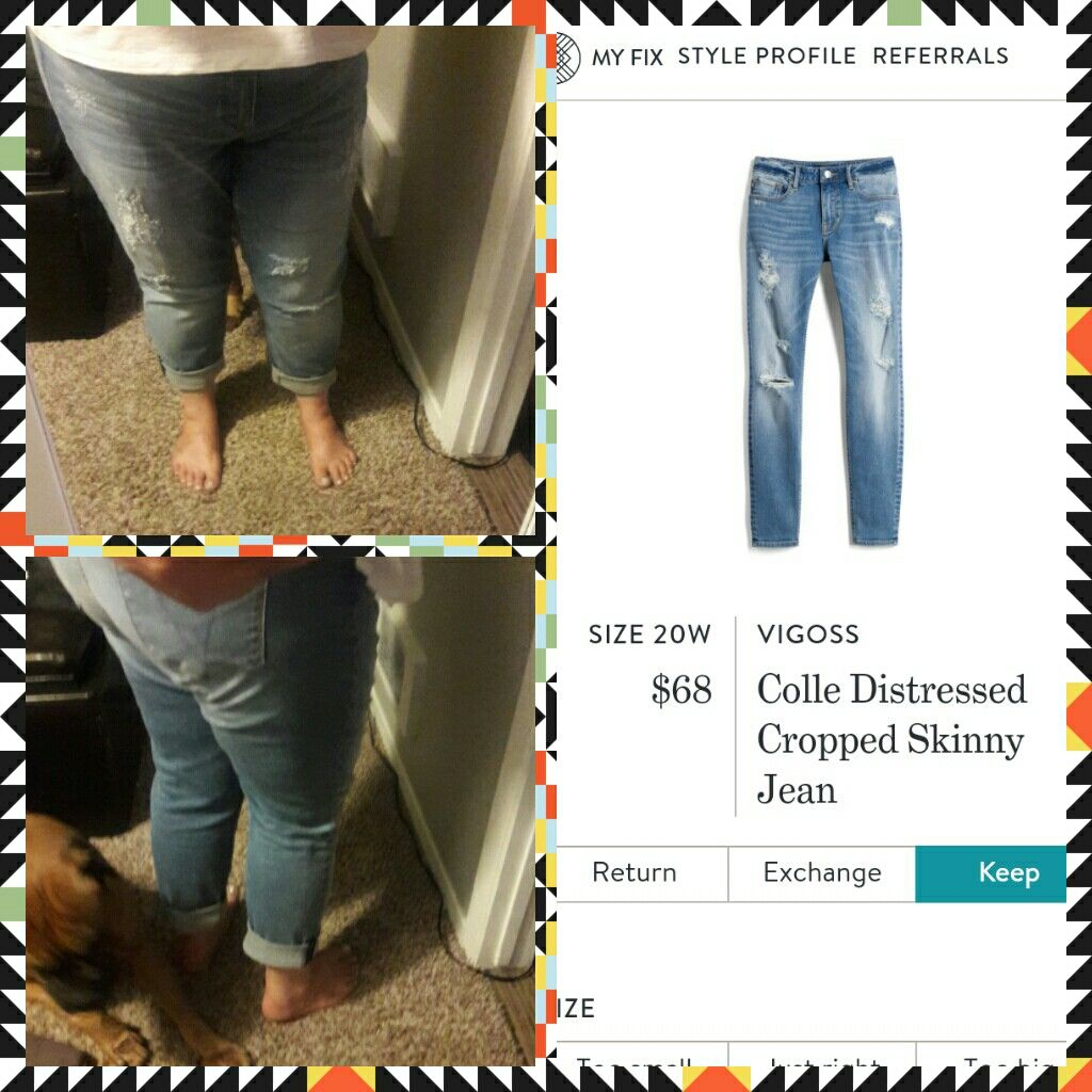 a2d8bdcf012 Stitch fix VIGOSS Colle Distressed Cropped Skinny Jean | My fixes ...