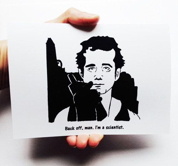 Halloween Card Ghostbusters card Bill Murray Back by WellOwlBee – Bill Murray Birthday Card