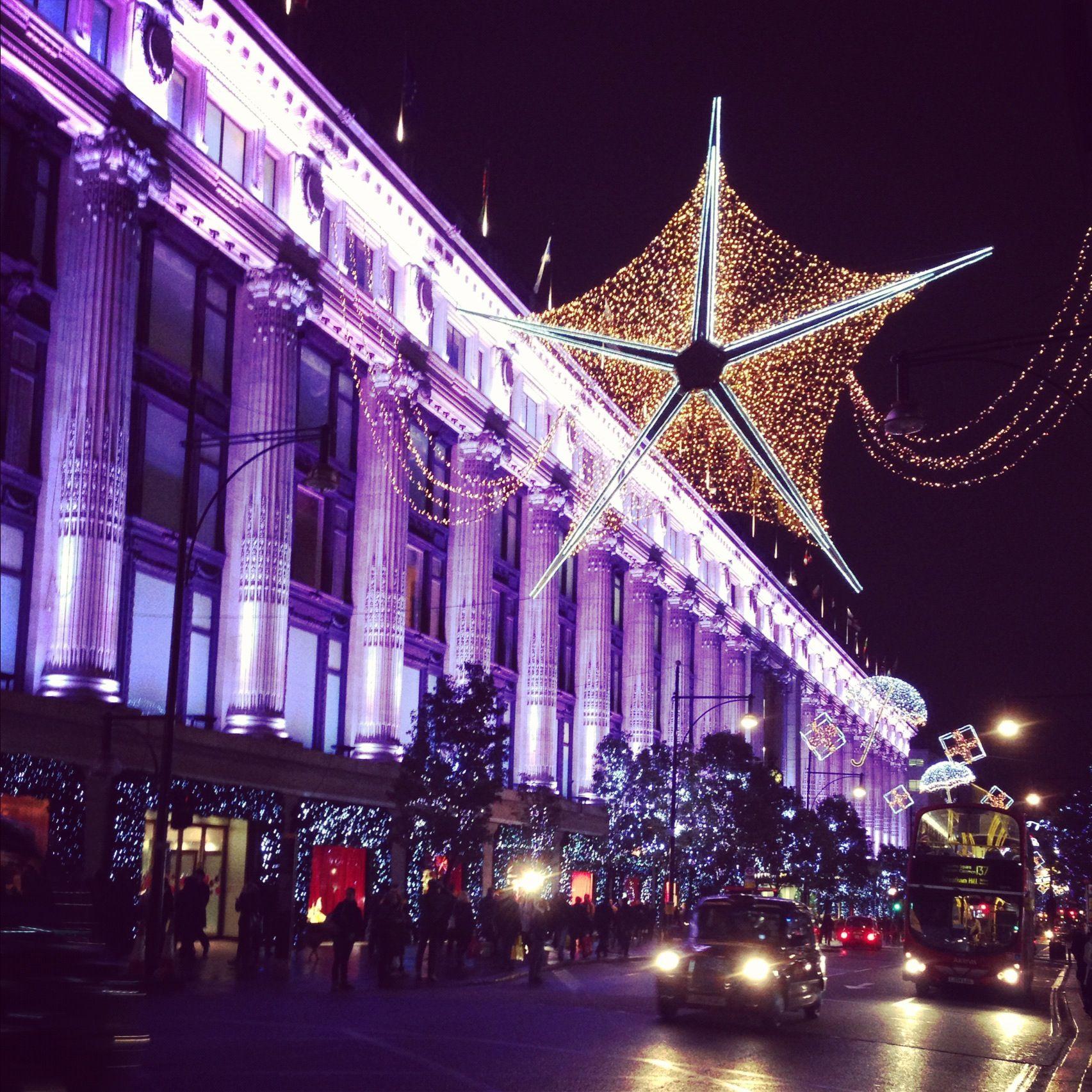 Selfridges London Christmas Lights