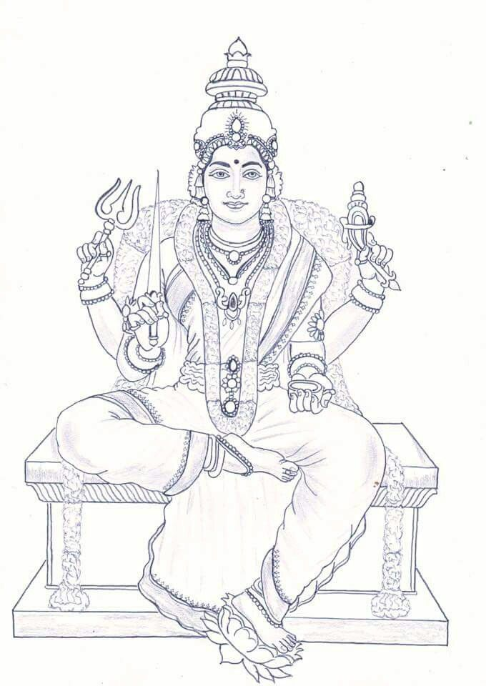 Pin By Karthik Charan On Art Sketches Vintage Art Paintings Hinduism Art Art Painting