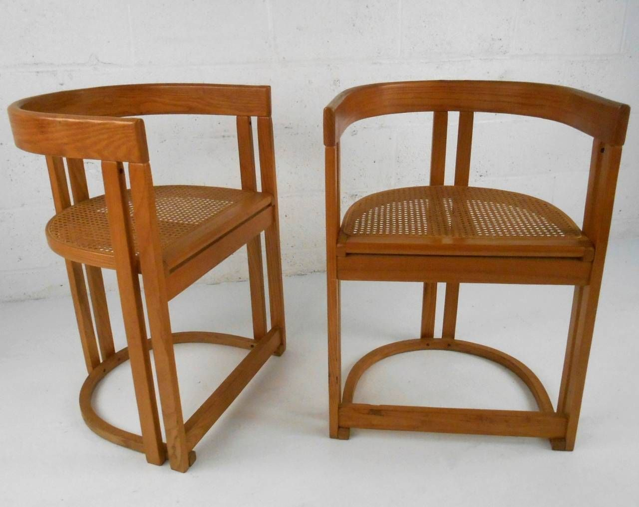Jds Sedie ~ Pair mid century modern style vermont tubbs cane seat side chairs