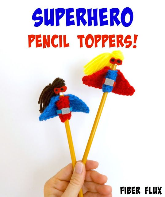 Fiber Flux: Free Crochet Pattern...Superhero Pencil Toppers ...