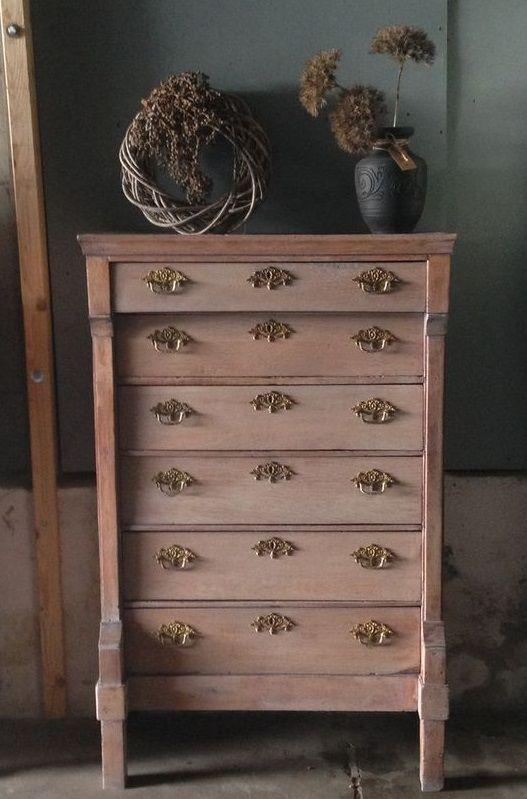 Beste Antieke Chiffoniere / hoge Ladenkast, te koop | landelijke UV-82