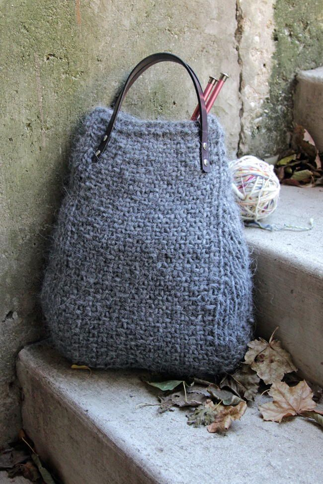 Ash Heather Knit Tote | Knitted bags, Patterns and Bag