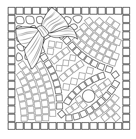 Christmas Bell Mosaic Coloring Page Free Printable Coloring Pages Christmas Mosaics Free Mosaic Patterns Coloring Pages