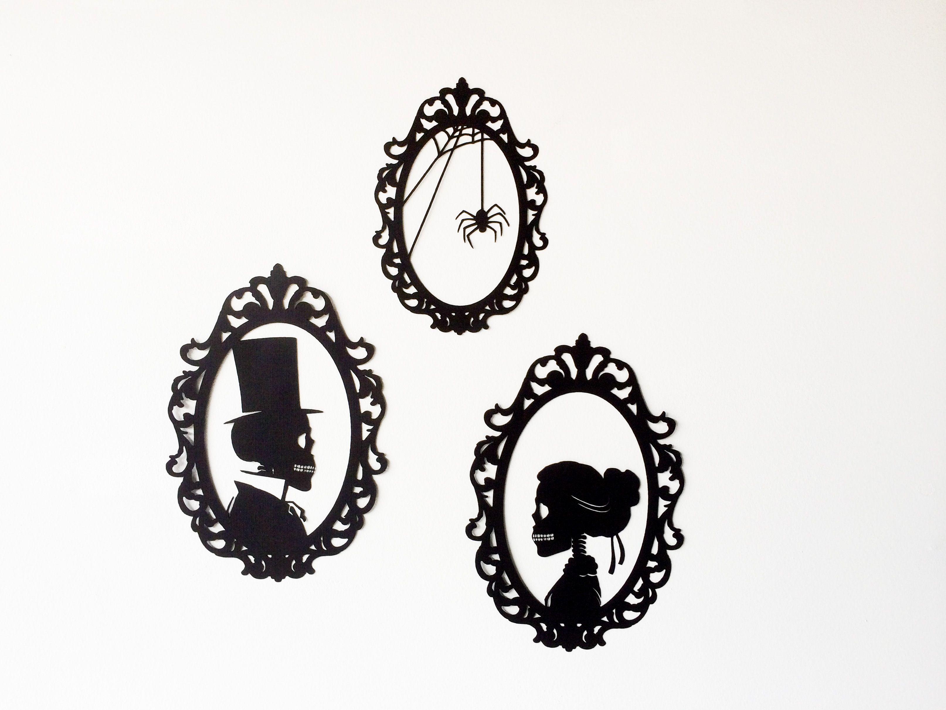 Halloween Wall Art diy skeleton silhouettes | halloween silhouettes, halloween frames