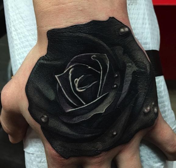 Rosa Negra Sensacion 3d Tatoos Tatuaje Rosa Negra Tatuajes De