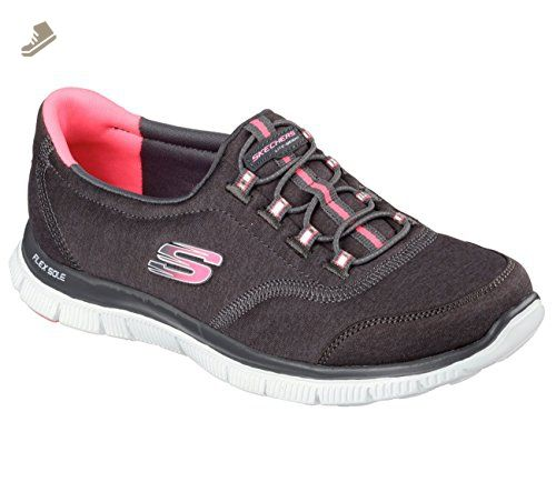 06c90d5dc297 Skechers Flex Appeal Record Breaker Womens Sneakers Charcoal Hot Pink 7.5 - Skechers  sneakers for