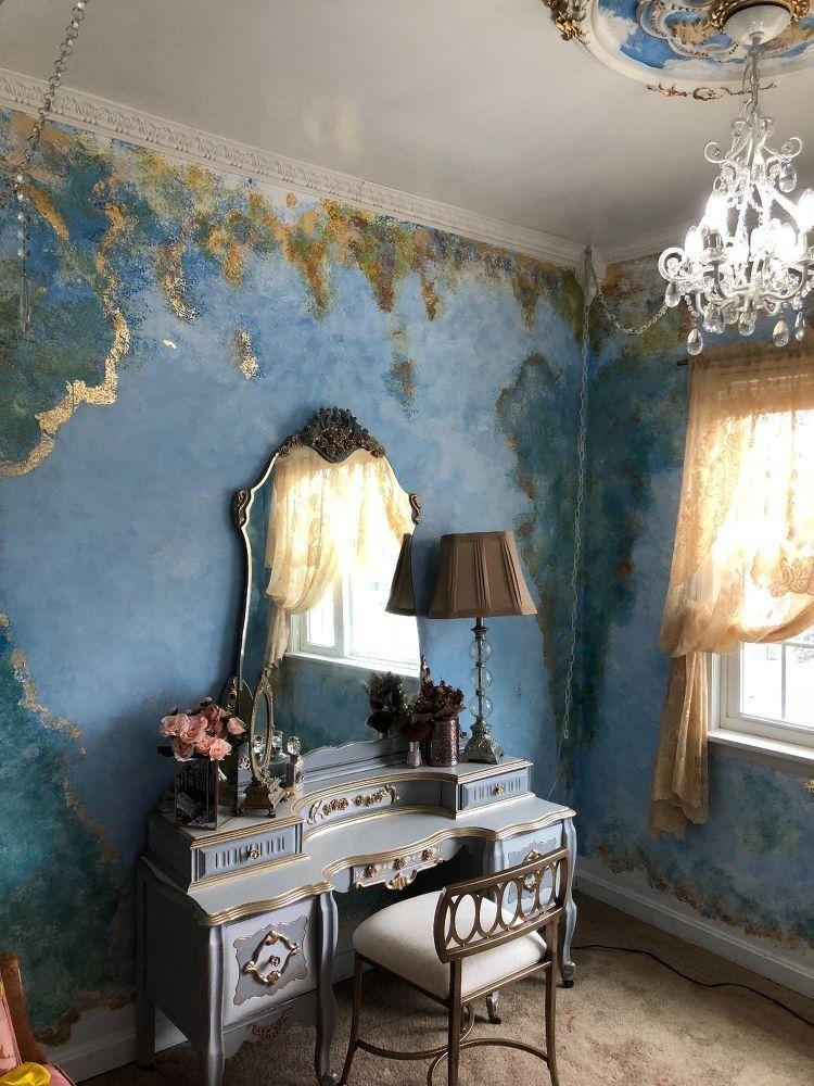 DIY Romantic Painted Walls