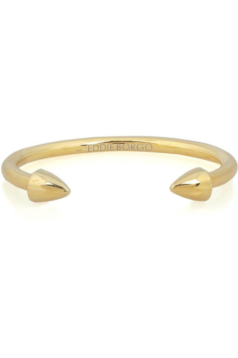 Eddie Borgo 24karat goldplated silver cone cuff NETAPORTER