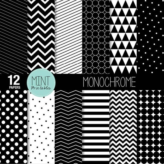 Black And White Scrapbooking Paper Monochrome Digital Paper Etsy Digital Paper Digital Paper Free Scrapbook Paper