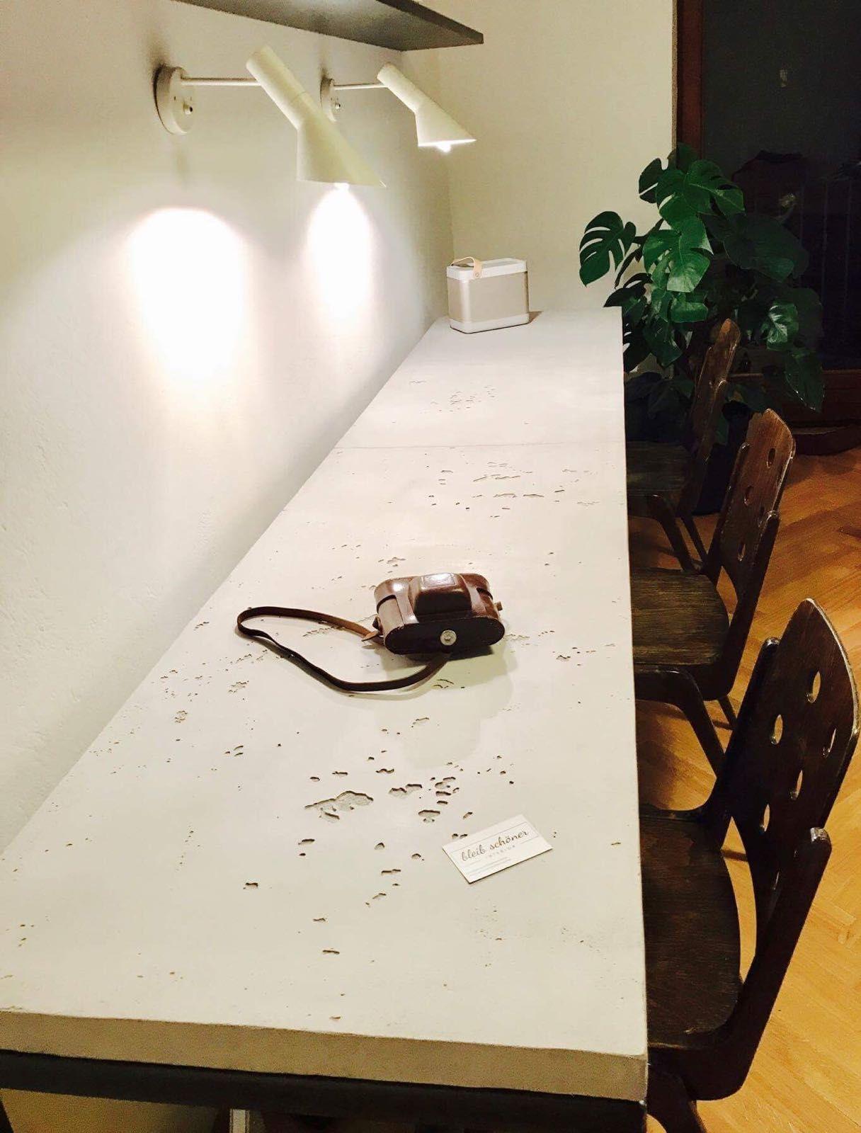 sichtbeton als arbeitsplatte sichtbeton betontisch best off adieu tristesse. Black Bedroom Furniture Sets. Home Design Ideas