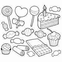 Sweets Coloring Pages Candy Coloring Pages Coloring Books Cupcake Coloring Pages