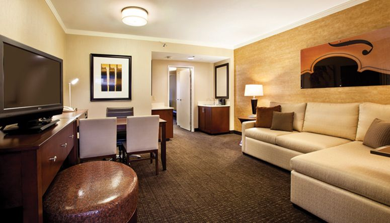 hotel living room design hotel room suite embassy suites two hotels sky 13424