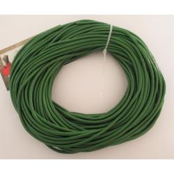 Cordón cuero verde 3 mm.