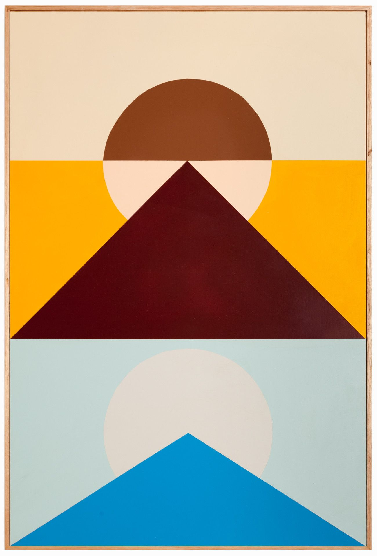 Esther Stewart is a Melbourne based painter and sculptor.  Stewart's paintings combine geometric shapes with dreamy color palettes that straddle a perfect line between vintage and modern.  Safe to say they're our newest obsession.  #ShopCamp #CampCollection