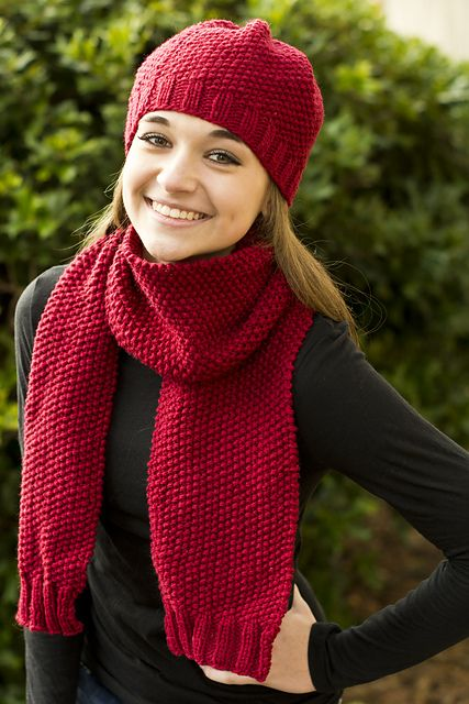 Knitting Patterns Galore - Simplicity Hat and Scarf ...