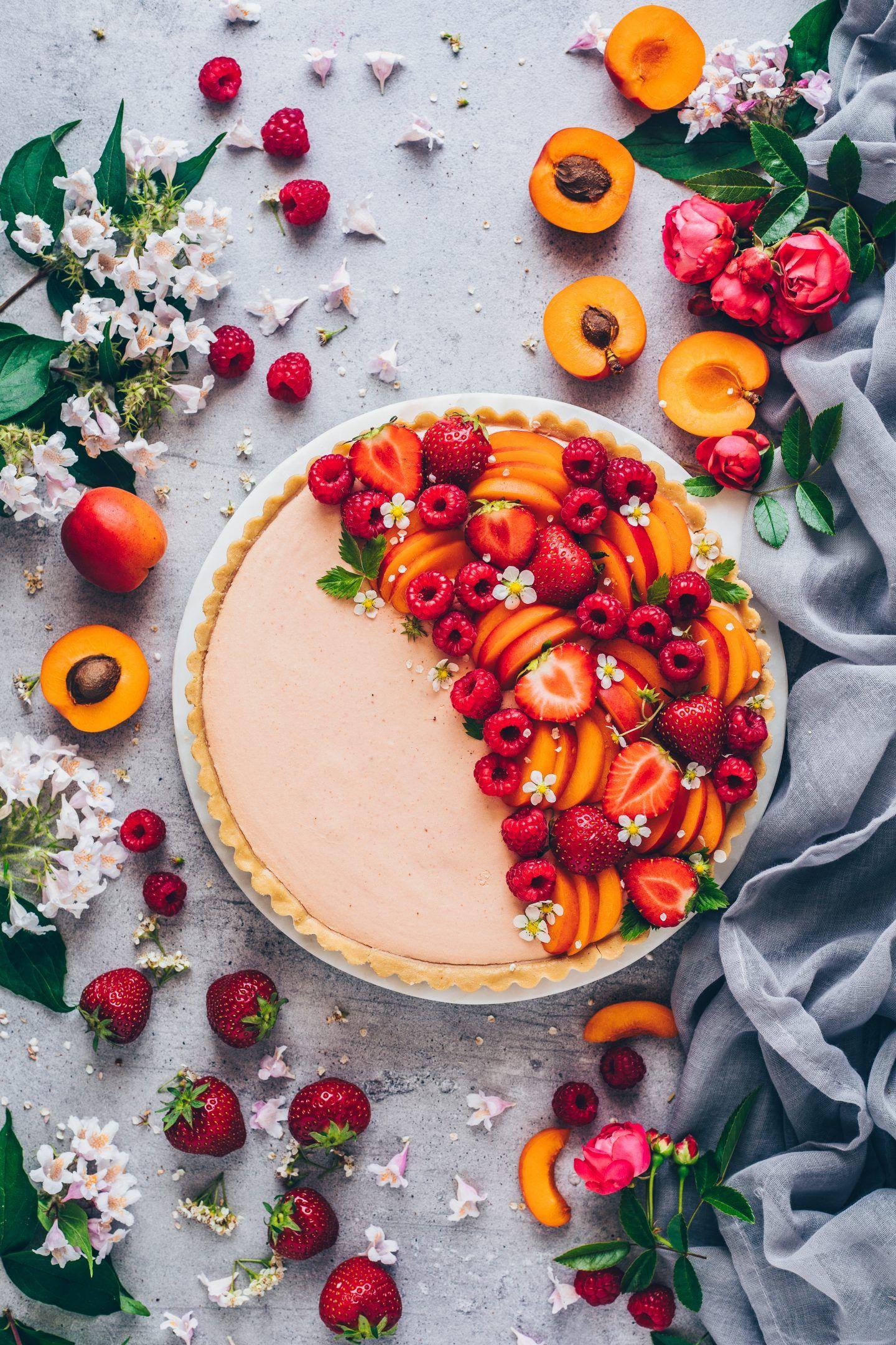 Obst Creme Tarte - einfache Torte ohne Backen - Bianca Zapatka | Rezepte