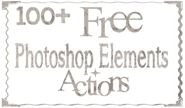 {Through Clouded Glass}  Free Photoshop Elements Actions!