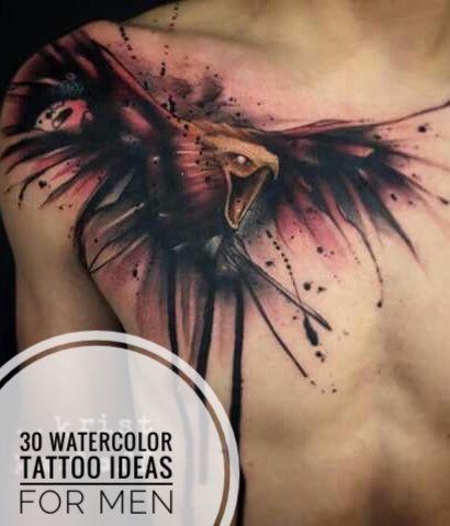 30 Watercolor Tattoo Ideas For Men Watercolor Tattoo Tattoos Chest Tattoo Men