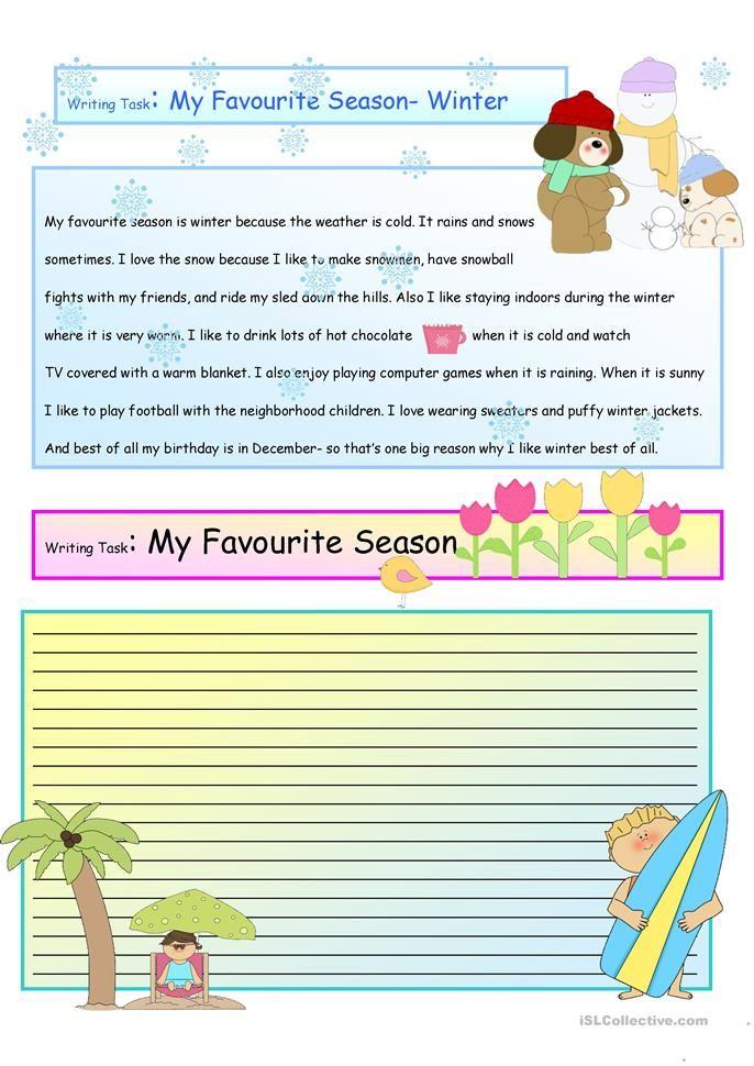 Creative Writing My Favorite Season 14 A1 Level Ingles