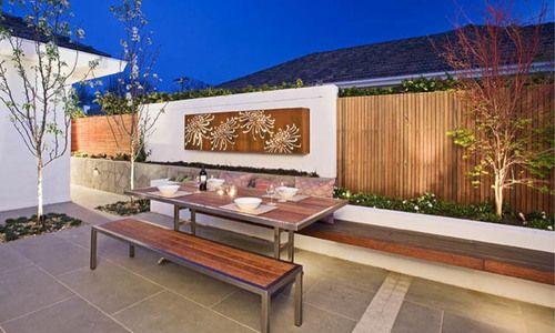 Garden Ideas, Landscaping Ideas, Small Garden, Small Backyard, Small Space, Maximise small space, COS Design, outdoor artwork
