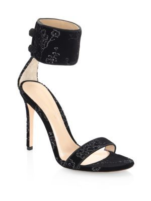 big discount cheap price Gianvito Rossi Velvet Ankle Strap Pumps new arrival sale online 8TODCeIB