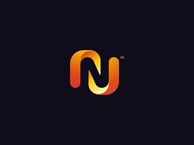 N N Logo Design Colorful Logo Design Logo Design Typography