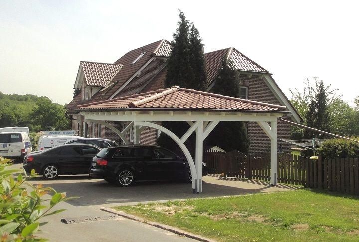 Pretty Carport Walmdach Carport Hintergarten