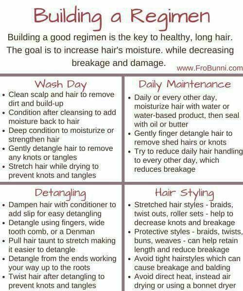 Natural Hair Regimen With Images Natural Hair Regimen Hair