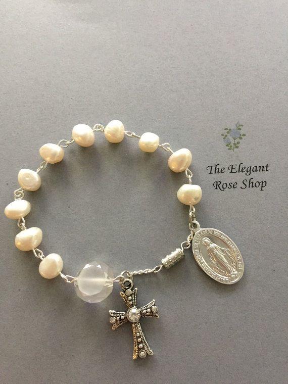 One Decade Rosary Bracelet By Elegantrose On Etsy