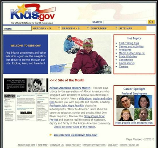 Site Review: Kids Gov -- This catch-all site provided by the