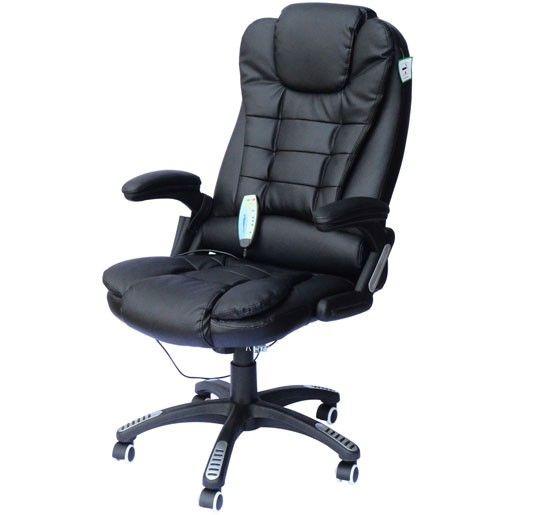Chaise De Bureau Pivotante Fauteuil Direction De Massage Electrique Massant Relaxation Noir Neuf 55 Fauteuil Bureau Bureau Pivotant Chaise Bureau