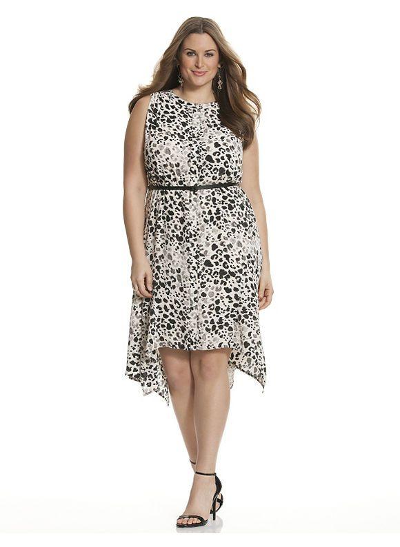 Plus Size Sleeveless leopard print shirt dress Lane Bryant Women\'s ...