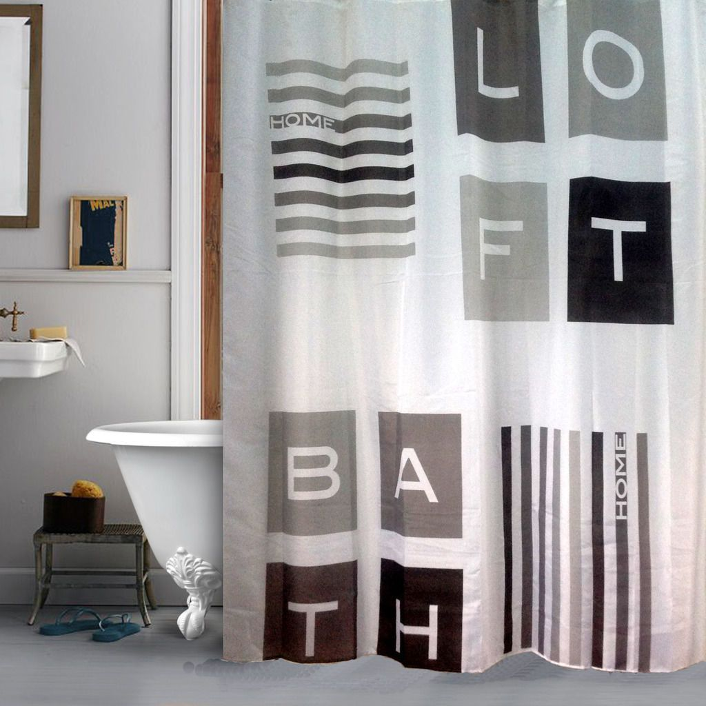 Details About Loft Industrial Style Shower Curtain Bathroom