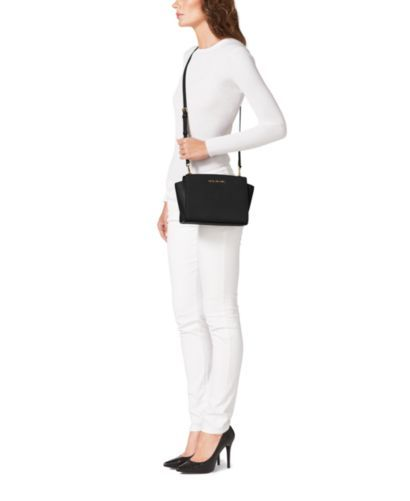242a95ec009 Selma Medium Saffiano Leather Messenger   Michael Kors   Bags ...