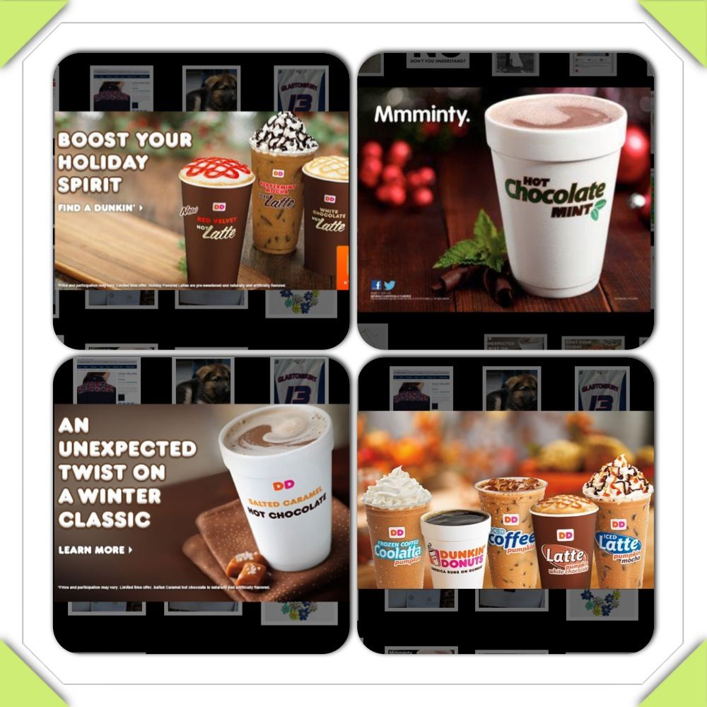 Dunkin Donuts Winter Drinks