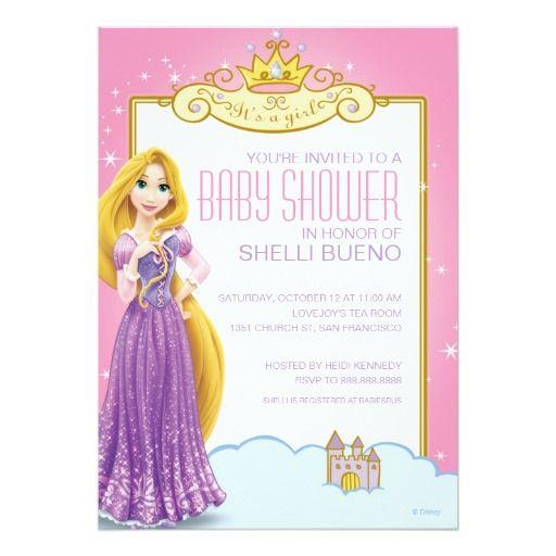 princesa rapunzel it de disney es una fiesta de | invitaciones de, Baby shower invitations
