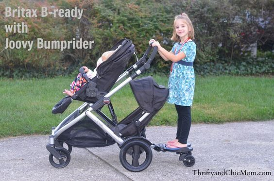 Joovy Bumprider With Britax B Ready Double Stroller This Is About