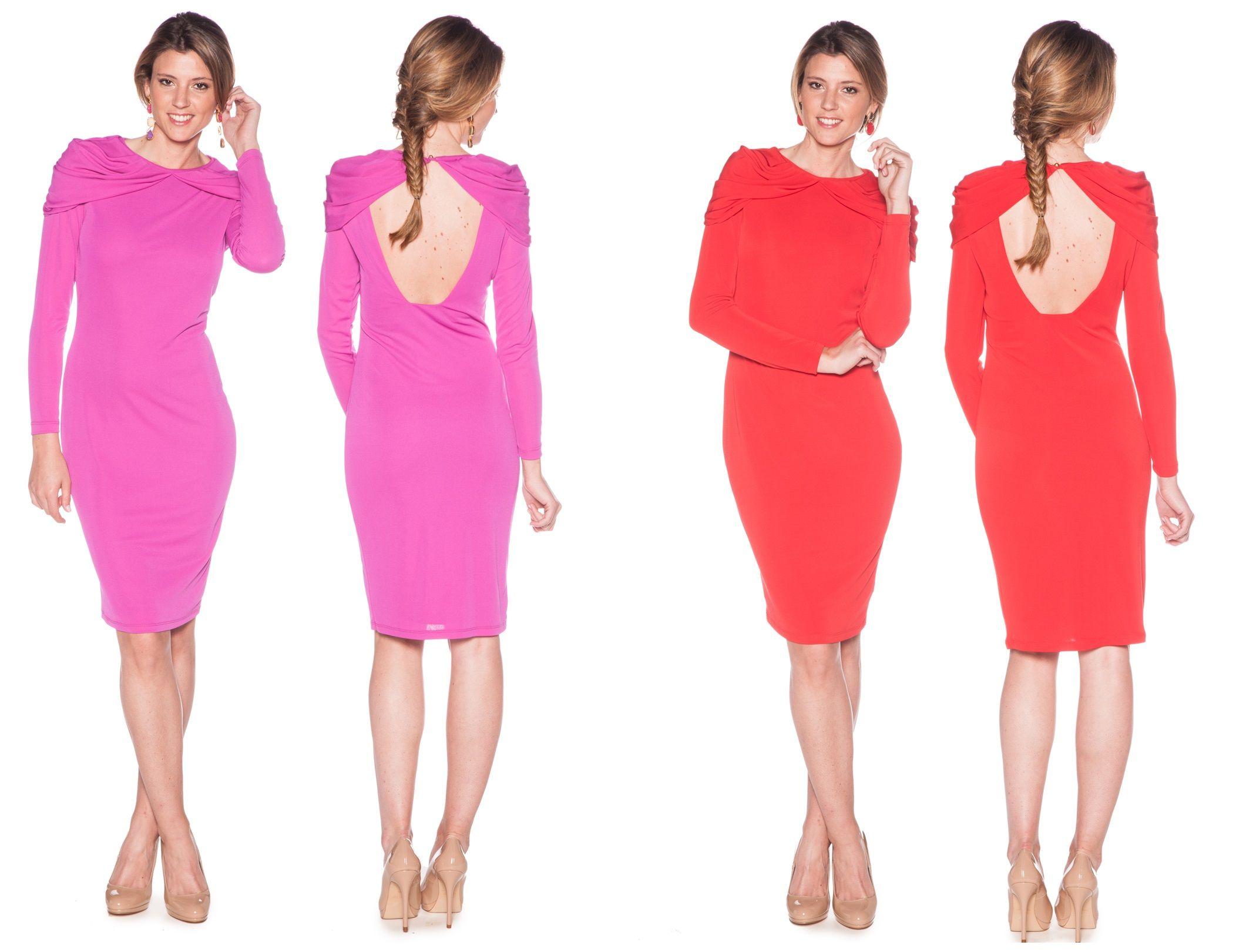 vestido manga larga de alquiler en www.lamasmona.com | Invitadas de ...
