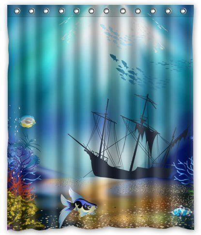 Outlet-Seller Custom Boat Under the Sea Shower Curtain 60... https://www.amazon.com/dp/B00MYOFU3M/ref=cm_sw_r_pi_dp_x_vWVvybX9PSRHV