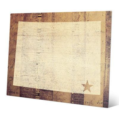 """Click Wall Art 'Wyoming Rustic' Graphic Art Size: 20"""" H x 30"""" W x 0.04"""" D"""