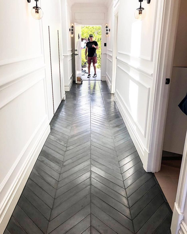 The Concrete Chevron Tiles Featuring In Beton House From Last Weekends Openhouseperth Thank You To S Chevron Tile Concrete Tile Floor Herringbone Tile Floors