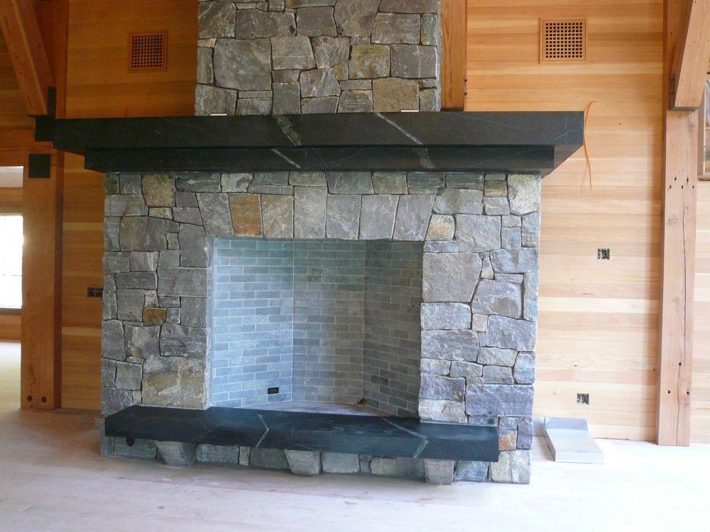 Soapstone Tile Soapstone Great Lakes Stone Masonry Construction Fireplace Fireplace Surrounds