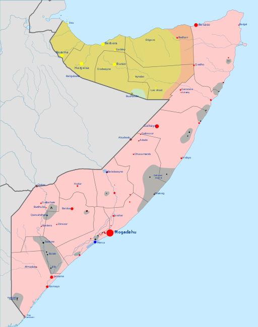 Mappa della crisi nel Corno dAfrica Somali civil war and Civil wars