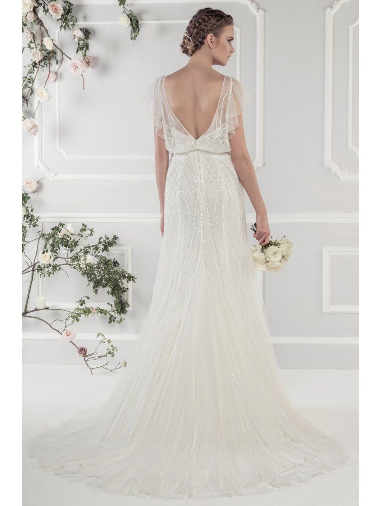 Ellis Bridals Wedding Dresses 15160 Soft And Beautiful Beaded Tulle Bridal Gown Ivory