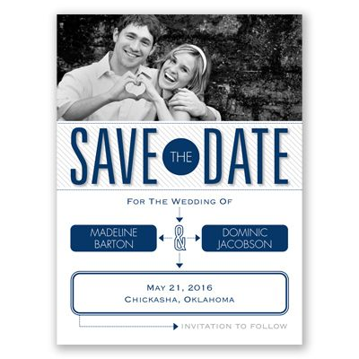 Love Story Photo Save The Date Card Flowchart Typography Stripes At Invitations By David S Save The Date Invitations Photo Wedding Invitations Save The Date