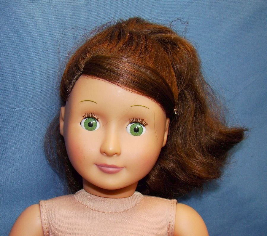 "18"" Battat Our Generation doll. Brown hair, green eyes. #Dolls"