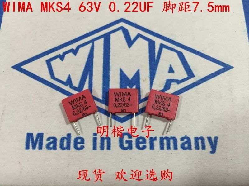 2019 Hot Sale 10pcs 20pcs Germany Wima Capacitor Mks4 63v0 22uf 63v224 220n P 7 5mm Audio Capacitor Free Shipping 2019 Sale 10 With Images Germany Capacitors Hot Sale